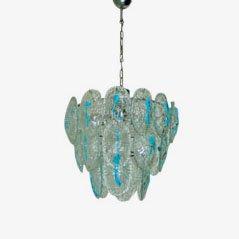 Lámpara de techo de cristal de Murano de Vistosi, años 60