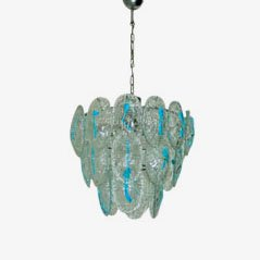 Murano Glass Ceiling Lamp from Vistosi, 1960s
