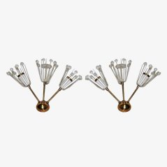 Mid-Century Sputnik Wandlampen, 1950er, 2er Set