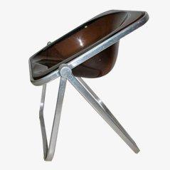 Chaise d'appoint en Aluminium et Perspex par Giancarlo Piretti pour Anonima Castelli, 1960