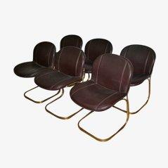 Chaises de Salon Vintage par Gastone Rinaldi pour Rima, 1970, Set de 6