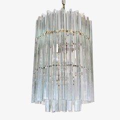 Lampadario vintage in cristallo di Venini