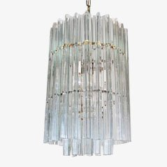 Vintage Crystal Chandelier by Venini