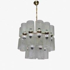 Lámpara de araña italiana vintage con 30 luces