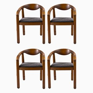 Danish Oiled Armchairs by Rainer Daumiller, 1970s, Set of 4