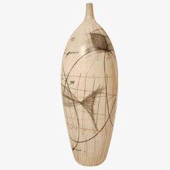 Große Italienische Vase aus Keramik von Zabcos, 1960er