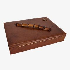 Leather Box by Jacques Adnet