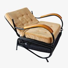 Fauteuil Inclinable Mid-Century, Allemagne, 1950s