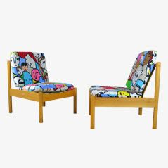 Vintage Easy Chairs by Ercol, Set of 2