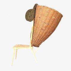 Silla Tyrolean vintage de tres patas de M. Rizzolli, años 60
