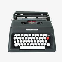 Black Typewriter by Ettore Sottsass for Olivetti, 1970s