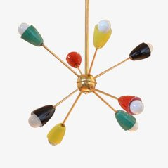 Mid Century Multicolored Glass Sputnik Lamp