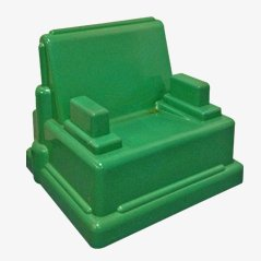 Green Roma Chair by Marco Zanini for Memphis, 1986