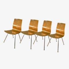 Mid-Century Esszimmerstühle, 1950er, 4er Set