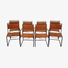 French Dining Chairs by Mart Stam & Marcel Breuer ed. Jox Interni, Set of 8