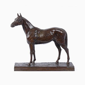 Bronze Horse Sculpture by Rene Papa, 1930s