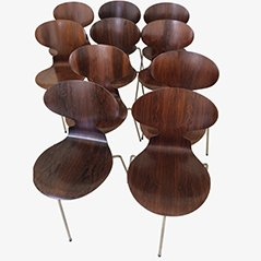 First Edition Ant Chairs by Arne Jacobsen for Fritz Hansen, 1950s, Set of 10