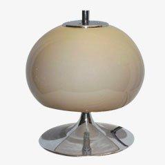 Lámpara de mesa con pie en forma de trompeta, años 70