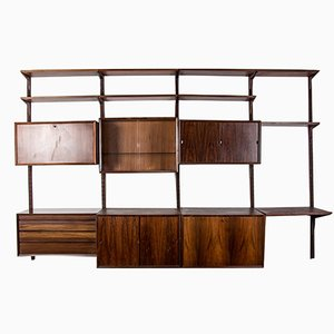 Large Danish Modular Rio Rosewood Shelf by Poul Cadovius for Cado, 1960s