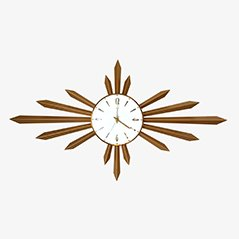 Sunburst Wall Clock from Metamec