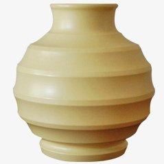 Cremefarbene Vase von Keith Murray für Wedgewood
