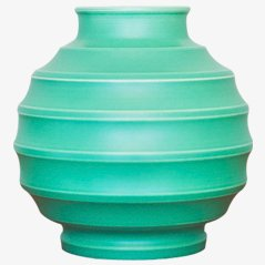 Vase Turquoise par Keith Murray pour Wedgewood
