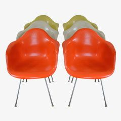 DAX Armchairs by Charles & Ray Eames for Herman Miller, 1950, Set of 6