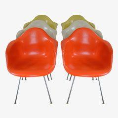 Poltrone DAX di Charles & Ray Eames per Herman Miller, 1950, set di 6