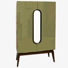 Armario de cóctel Art Decó con espejo