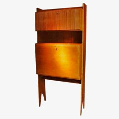 Cherrywood Writing Desk, Italy, 1950s