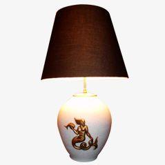 Keramik Tischlampe von Pol Chambost