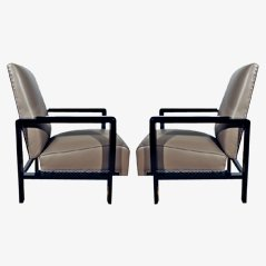 Art Deco Spanish Armchairs, 1930s, Set of 2