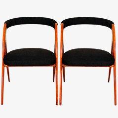 Italienische Vintage Stühle, 1950er, 2er Set