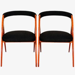 Vintage Italian Chairs, 1950s, Set of 2