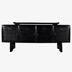 Art Deco Black Sideboard by Pier Luigi Colli, 1930s
