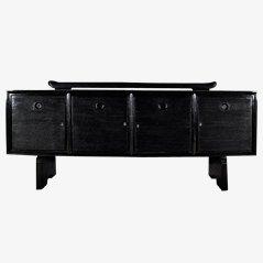 Schwarzes Art Deco Sideboard von Pier Luigi Colli, 1930er