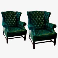 Spanische Vintage Sessel, 1940er, 2er Set