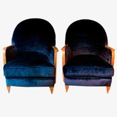 Französische Vintage Sessel, 1940er, 2er Set