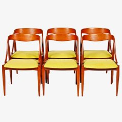 Dining Chairs by Kai Kristiansen for Uldum, Set of 6