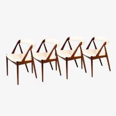 Mid Century Rosewood Chairs by Kai Kristiansen, 1950s, Set of 4