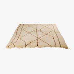 Vintage Geometric Beni Ourain Moroccan Rug