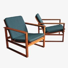 BM 2256 Easy Chairs by Borge Mogensen for Fredericia Furniture, Set of 2