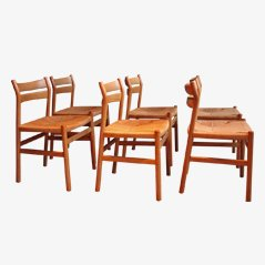 Dining Chairs by Borge Mogensen CM Madsen, Set of 6