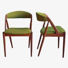 Teak Dining Chairs by Kai Kristiansen, Set of 2