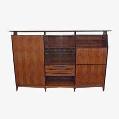 Mueble italiano vintage de palisandro y madera de haya, años 50