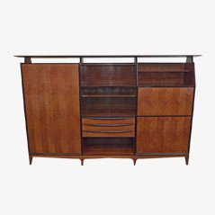 Vintage Italian Rosewood & Beechwood Cabinet, 1950s