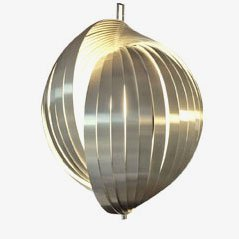 Lámpara colgante de aluminio de Henri Mathieu para Maison Mathieu, 1970