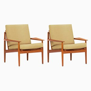 Danish Easy Chairs by Arne Vodder for Glostrup, 1960s, Set of 2