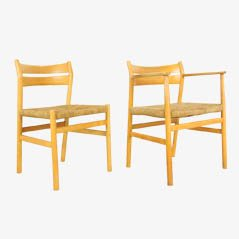 Mid-Century Dining Chairs by Borge Mogensen for M Madsens Fabriker, Set of 8