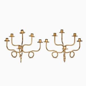 Sechsarmige Kerzenständer von Josef Frank, 2er Set